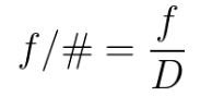 f/# equation
